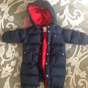 Ralph Lauren 6 month snow suit unisex snowsuit